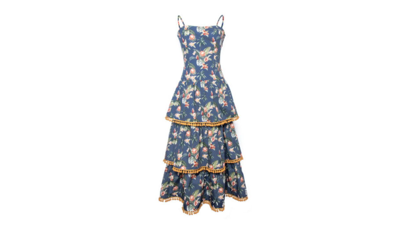 spring floral fashion petersyn flower tier dress