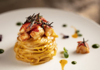 Homemade-Tajarin-pasta-lobster-lobster-sauce-seasonal-fresh-truffle_portofino