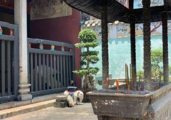 Kun Iam Temple Incense Burning and Door