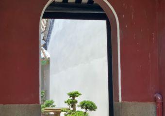 Kun Iam Temple Door and Garden Detail