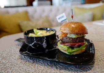 Mandarin Oriental Macau Lobby Lounge menu Impossible Burger