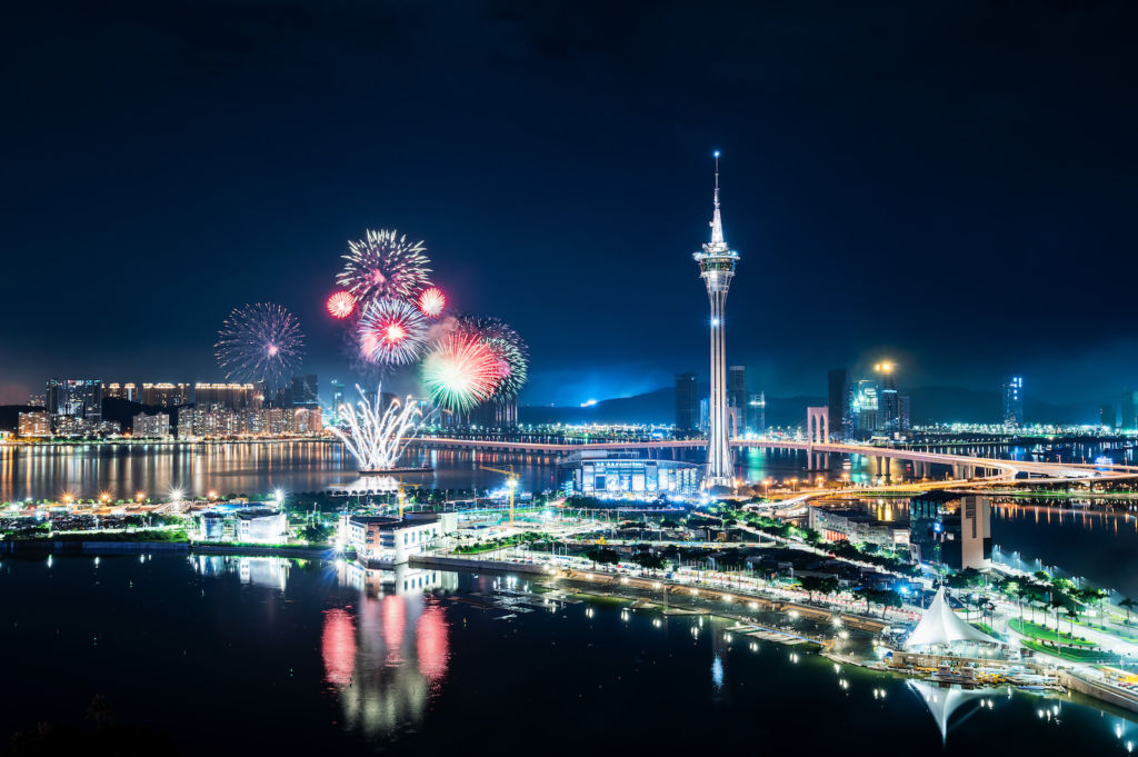 AJ Hackett Macau Tower Spectacular Fireworks at 233 Meters september events macau