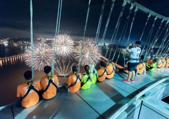 AJ Hackett Macau Tower Spectacular Fireworks at 233 Meters 5