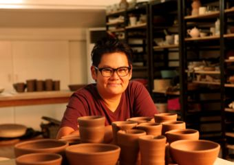 Caroline Cheng portrait with pots