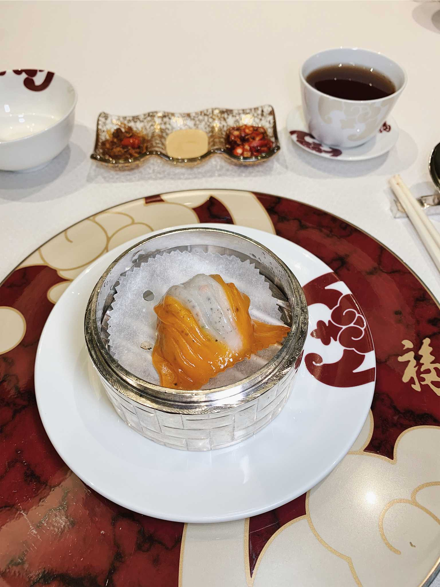 Galaxy Macau Fook Lam Moon dim sum steamed lobster dumpling with truffle
