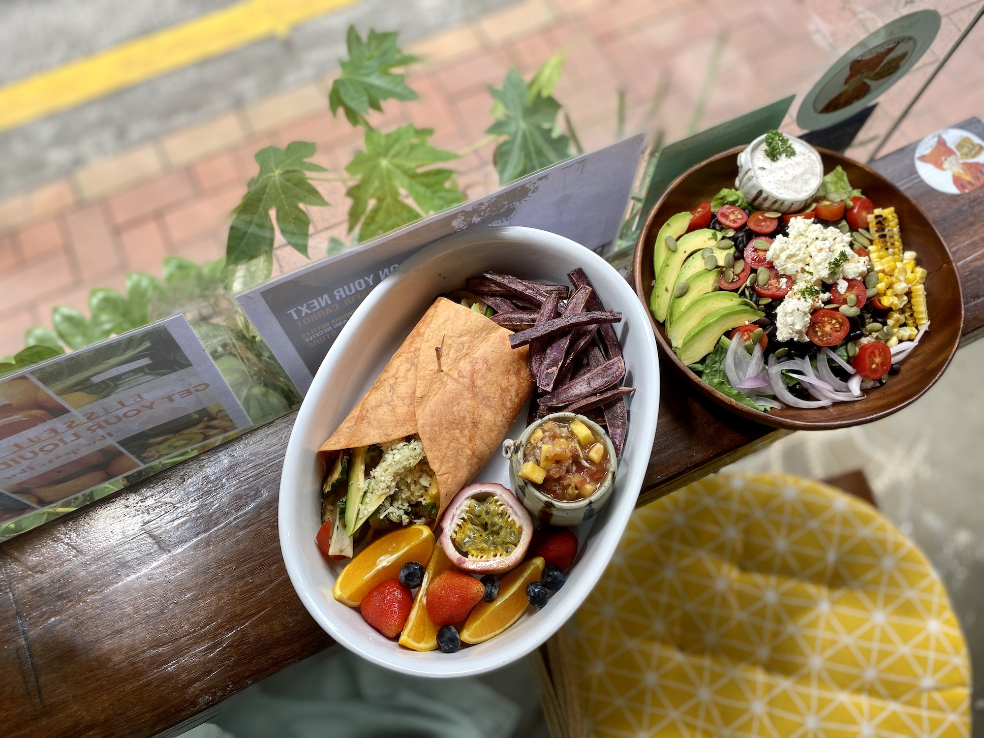 the blissful carrot mexican fiesta salad breakfast burrito