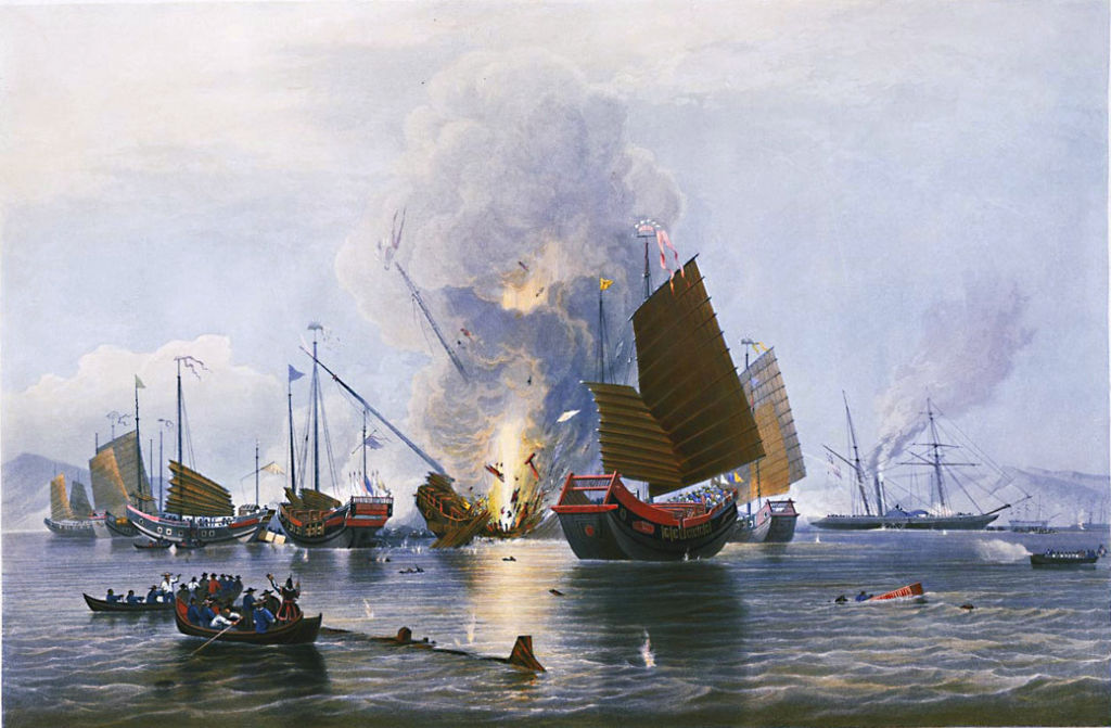 Destroying of Chinese Ships by the British Opium War Wikipedia