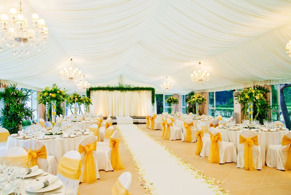 Grand Coloane Resort – Marquee Wedding Setup – Stage