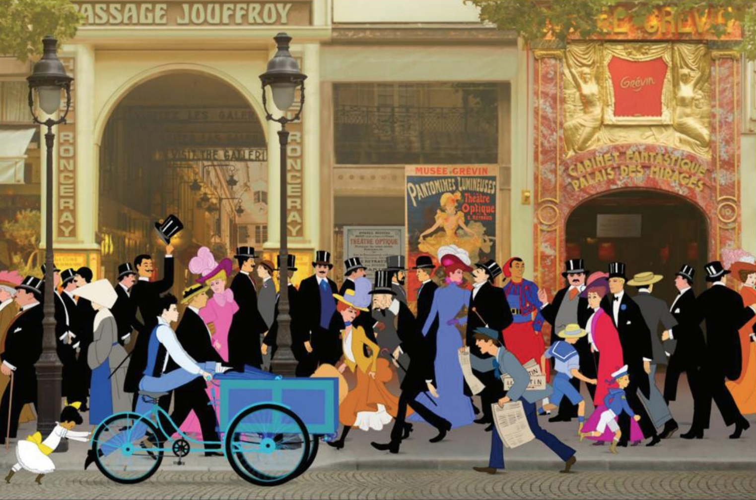 Still from Dilili in Paris Movie Animation Festival at Cinematheque Passion