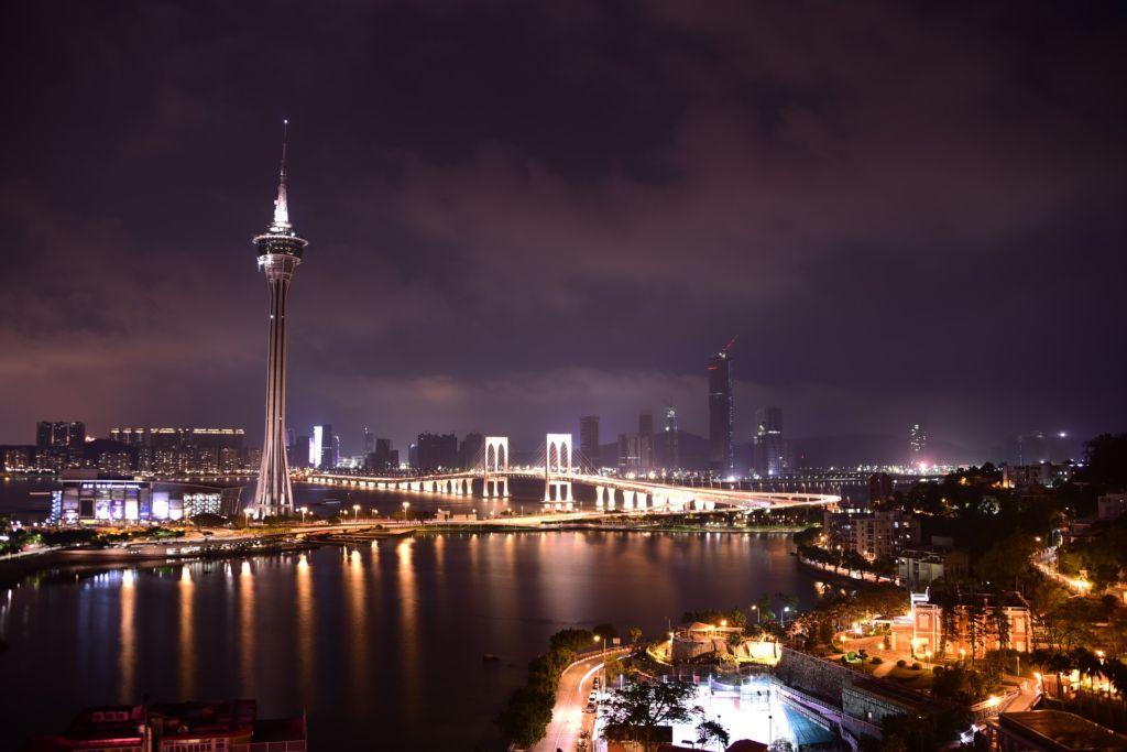 Macau Tower At Night Is Macau A Country