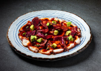 this weekend Macau Tiradito de Pulpo Dish from TokyoLima at Mandarin Oriental