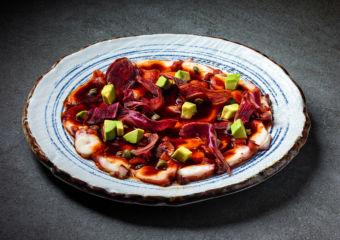 this weekend Macau Tiradito de Pulpo Dish from TokyoLima at Mandarin Oriental