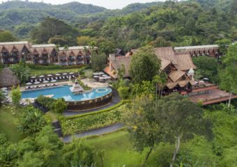 Anantara Golden Triangle Resort aerial view