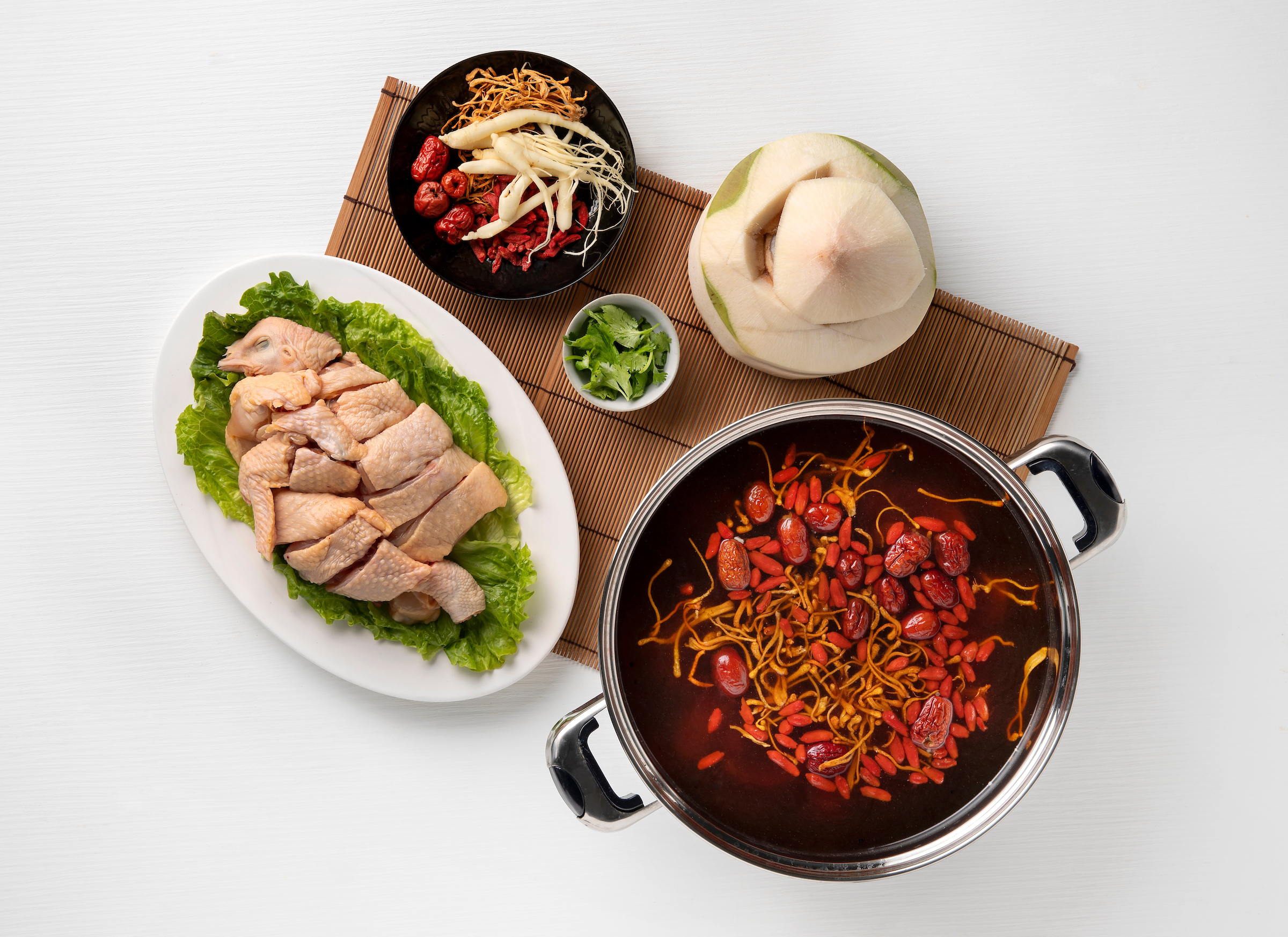 Chicken Hot Pot with Young Coconut and Ginseng Broadway Macau