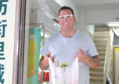 MGM Cotai Coast restaurant Chef Graham Elliot on the wet market with vegetables