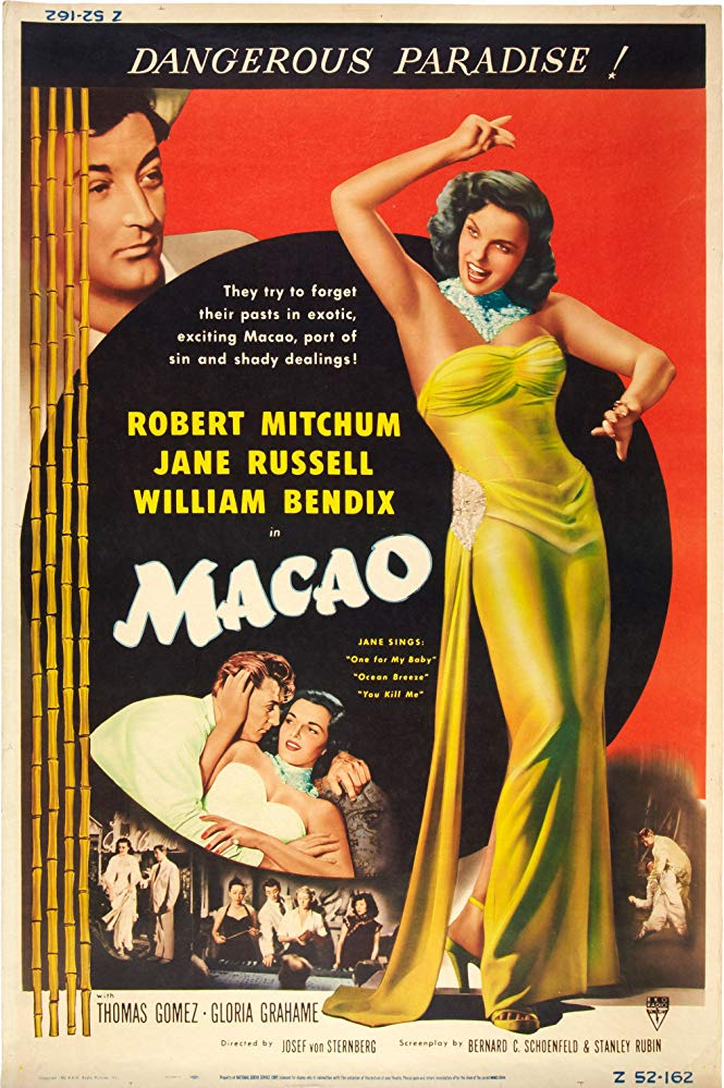 Macao Movie Poster 1952