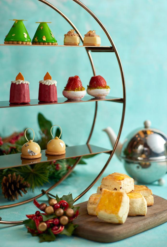 lobby lounge christmas Afternoon Tea set