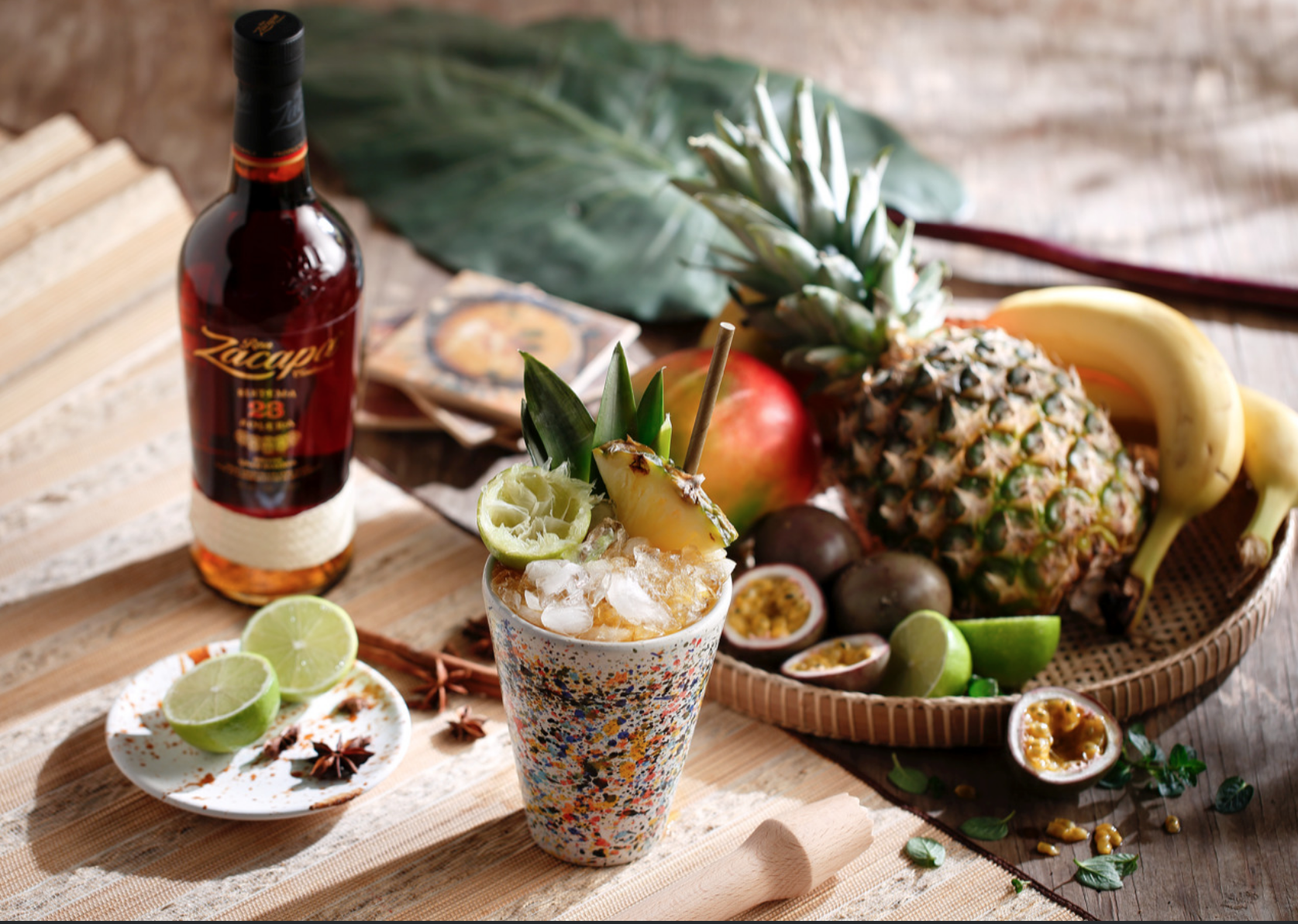 Bar Stories Full Photo Mandarin Oriental Cup with Pineapple and Drink Bottle