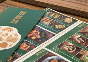 Dumpling Town Interior Table with Menu Macau Lifestyle