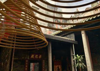 Hong Kung Miu Temple Incense Detail Macau Lifestyle