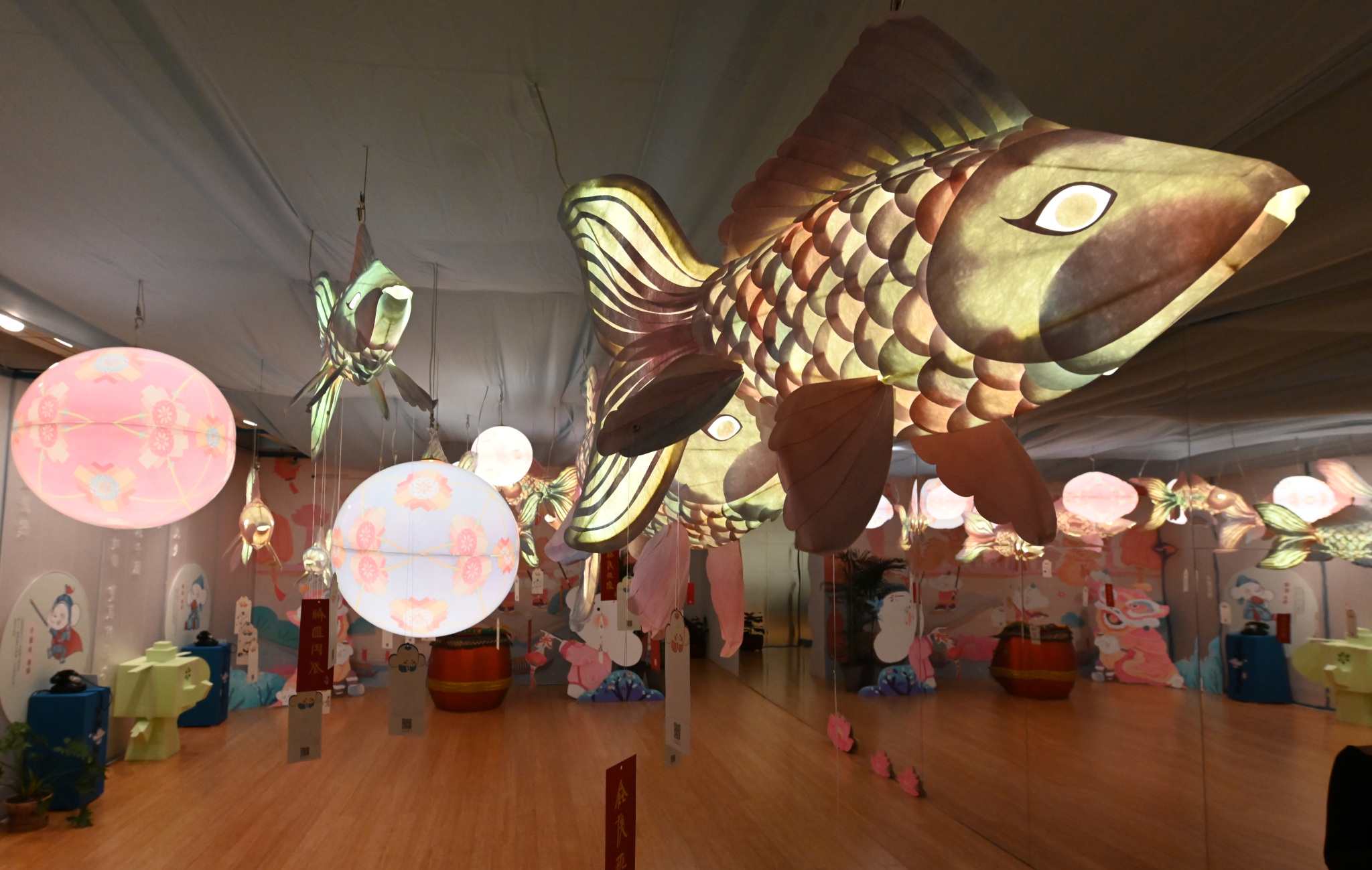 Panorama Exhibition Macao Museum of Art 2019 Interior Fish Detail