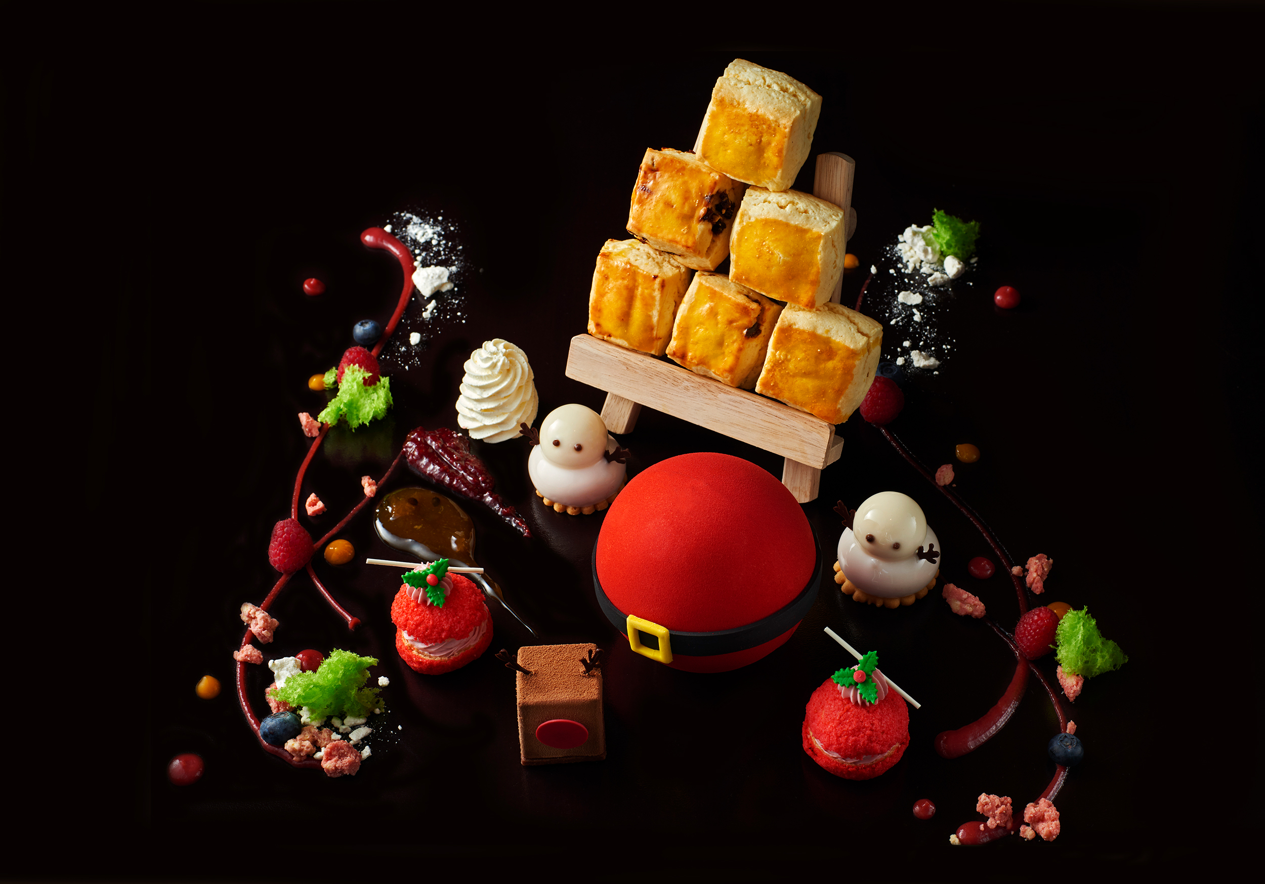 The Painter's Afternoon Tea Set Christmas Edition
