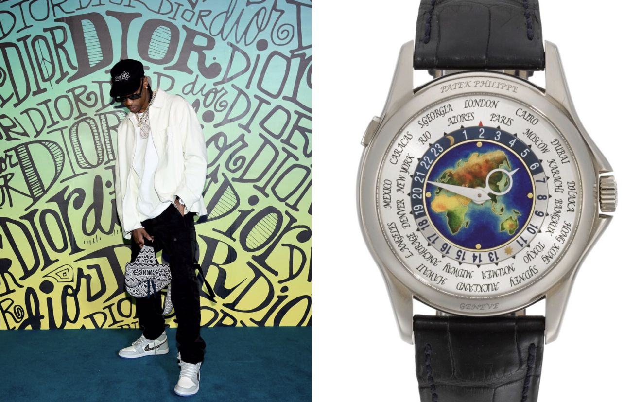 Travis Scott – Patek Philippe celebrities watches