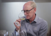 Paul Lapsley Hardys Wines 19th Chief Winemaker photo with wine glass