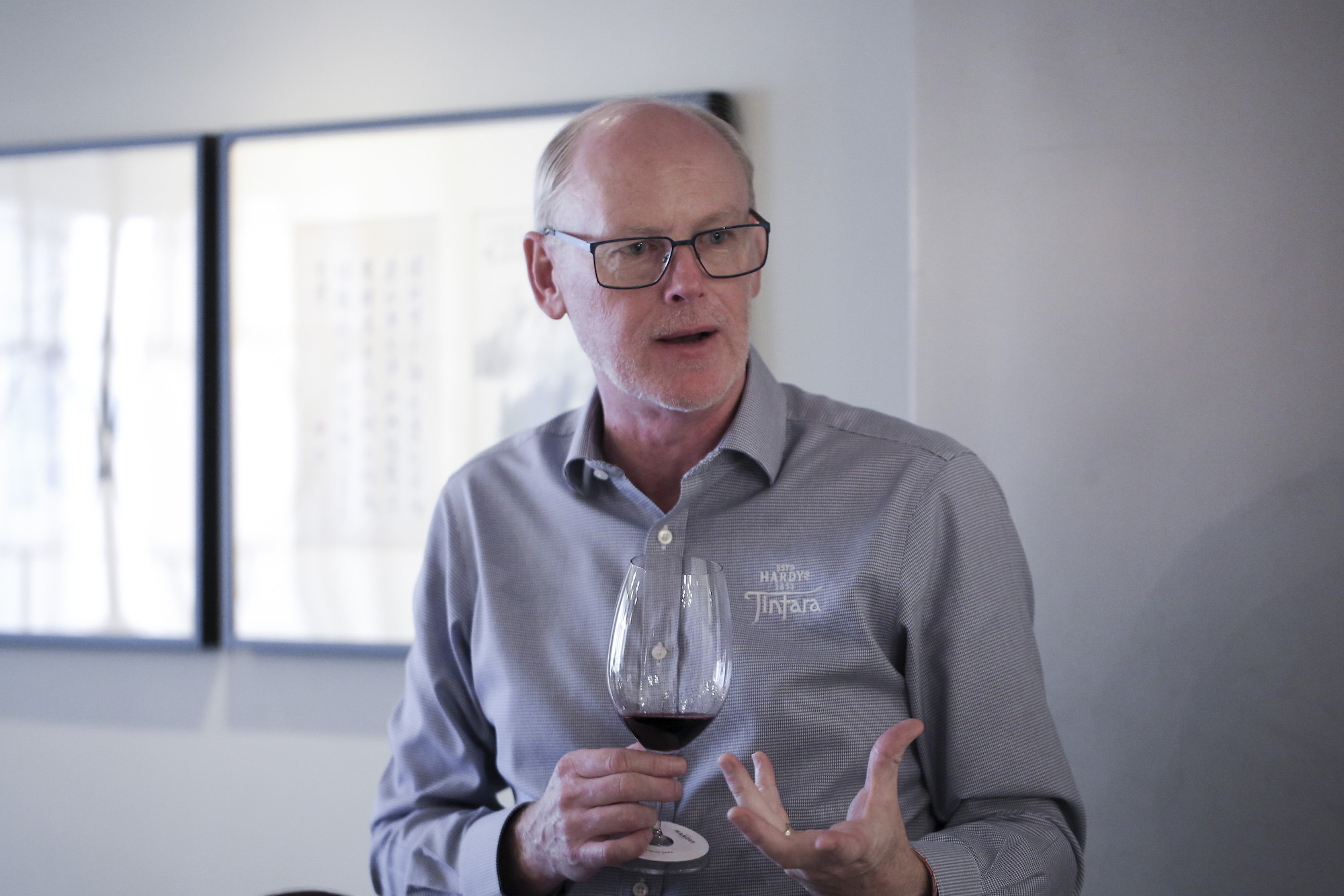 Paul Lapsley Hardys Wines 19th Chief Winemaker talking