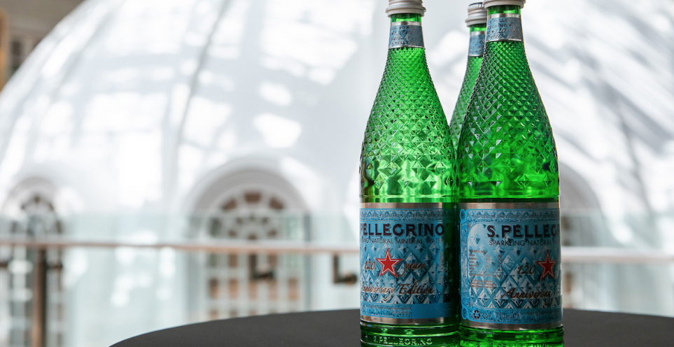 San Pellegrino 120 Years Anniversary Diamond Bottle