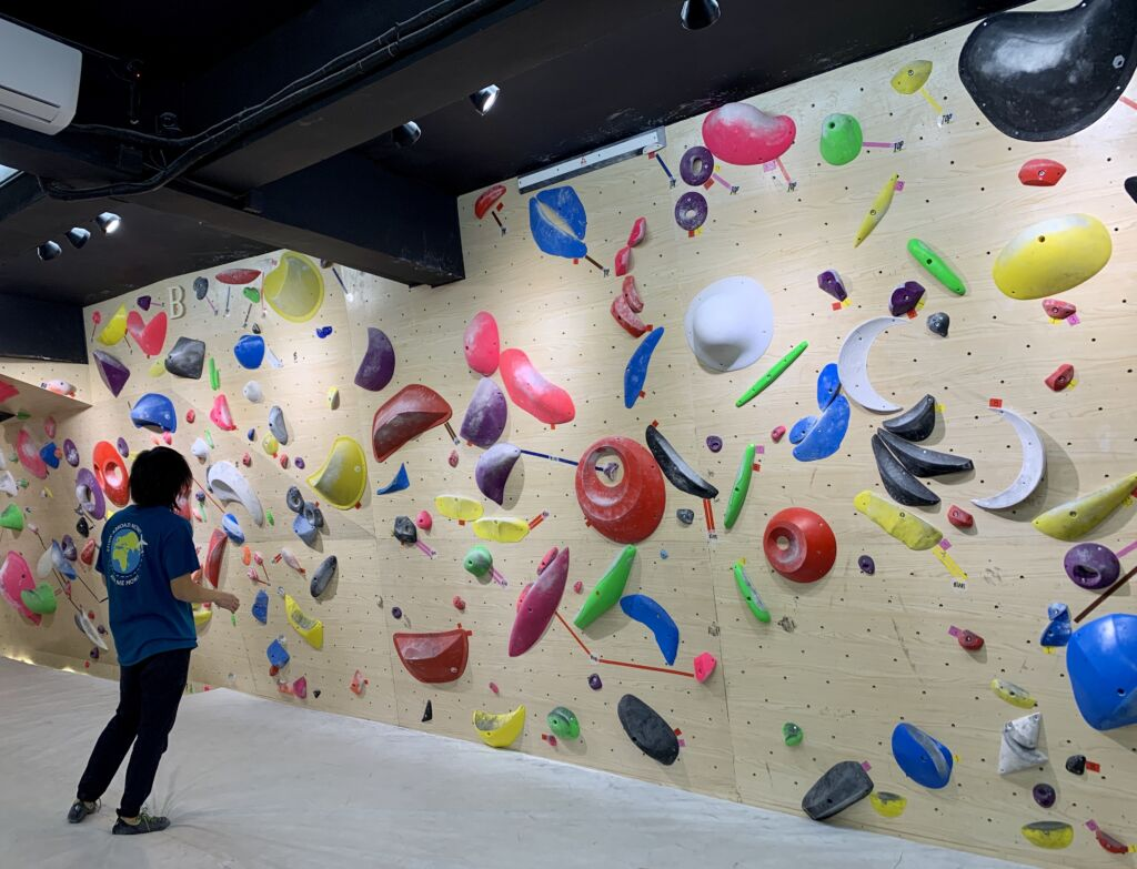 Solution Climbing Gym Macau Indoors Wall with Person