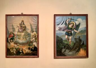at Sacred Treasure in St Paintings on the wall of the Treasure Sacred Art of Joseph Seminary Indoor Macau Lifestyle