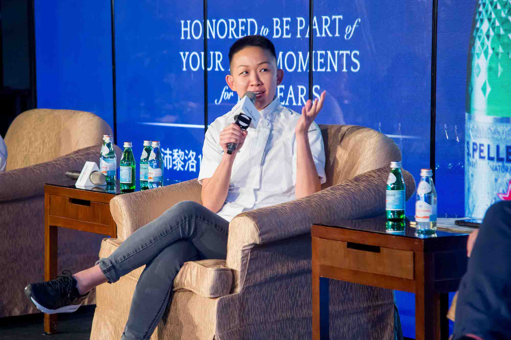 Chef May Chow at S.Pellegrino Inspirational Women of the Era Summit