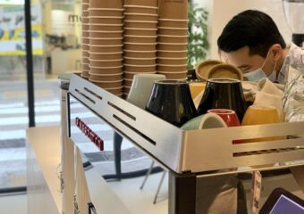Common Room Macau Interior Man Serving Coffee Photo Macau Lifestyle