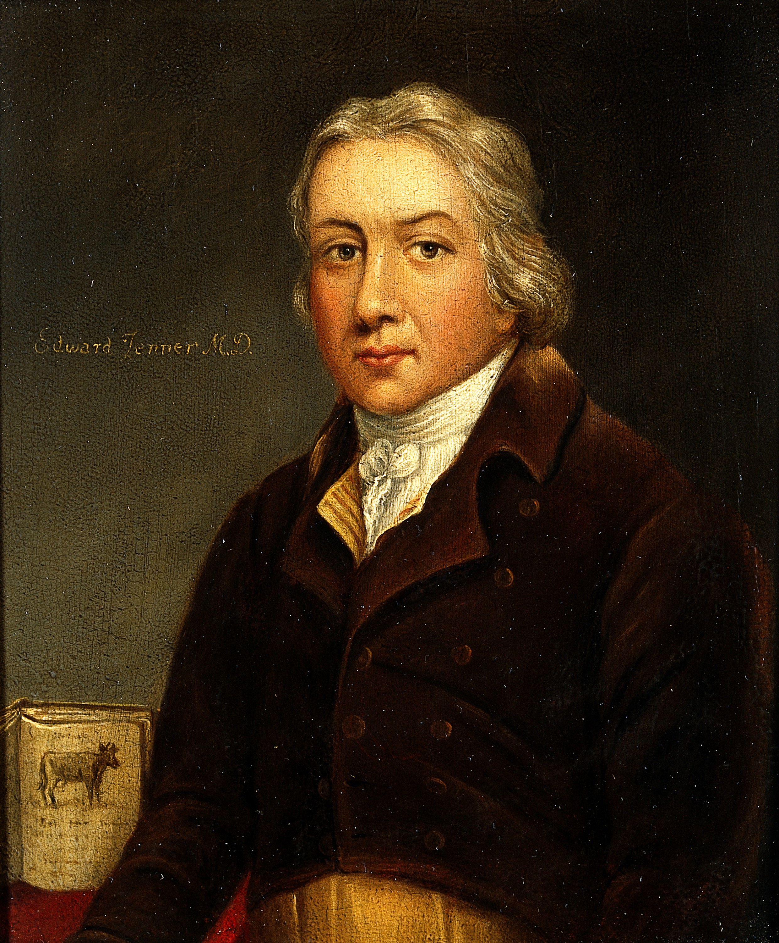 V0023503 Edward Jenner. Oil painting.