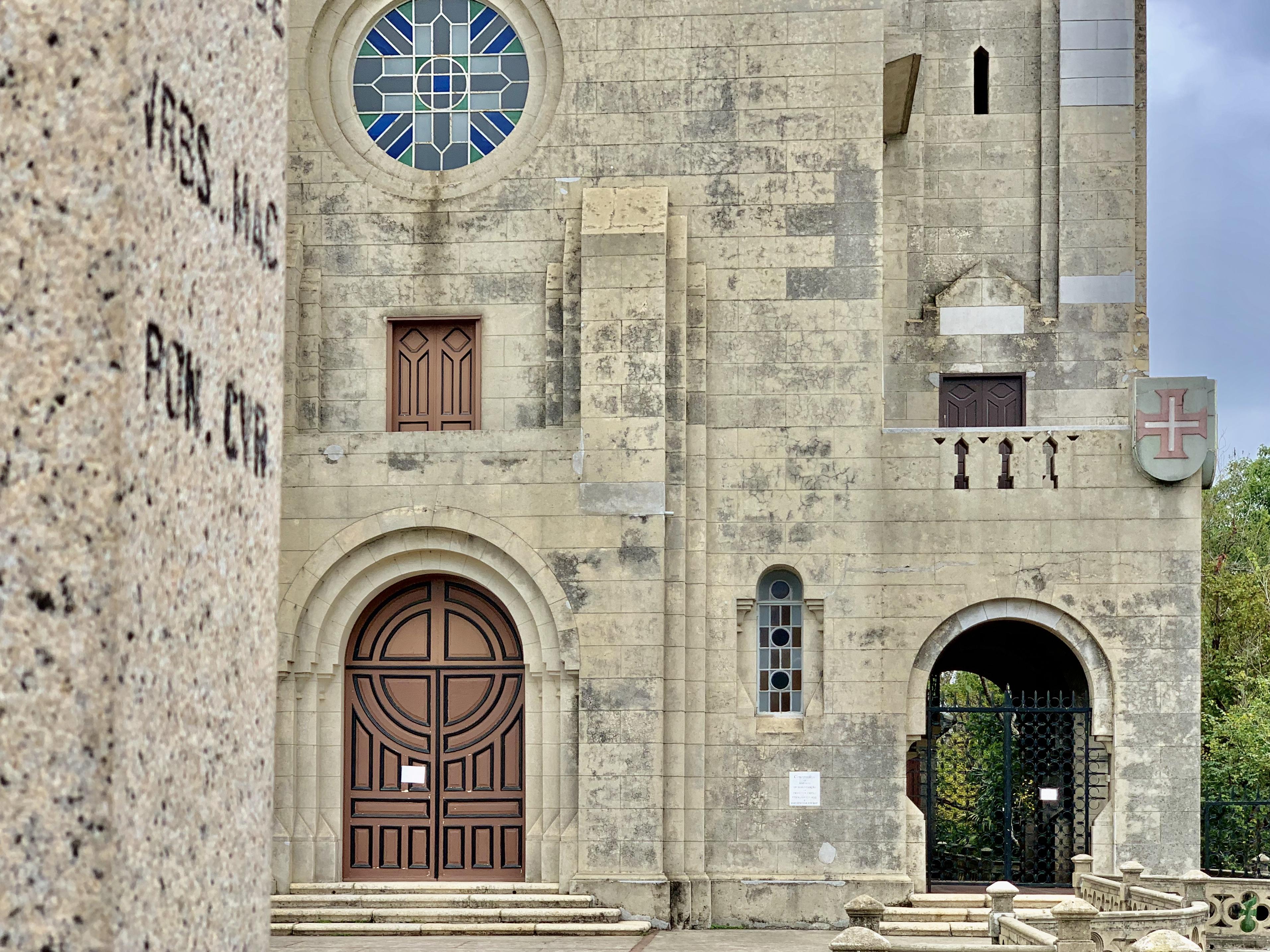 Penha Hill Church Exterior Shot Walls Detail Macau Lifestyle