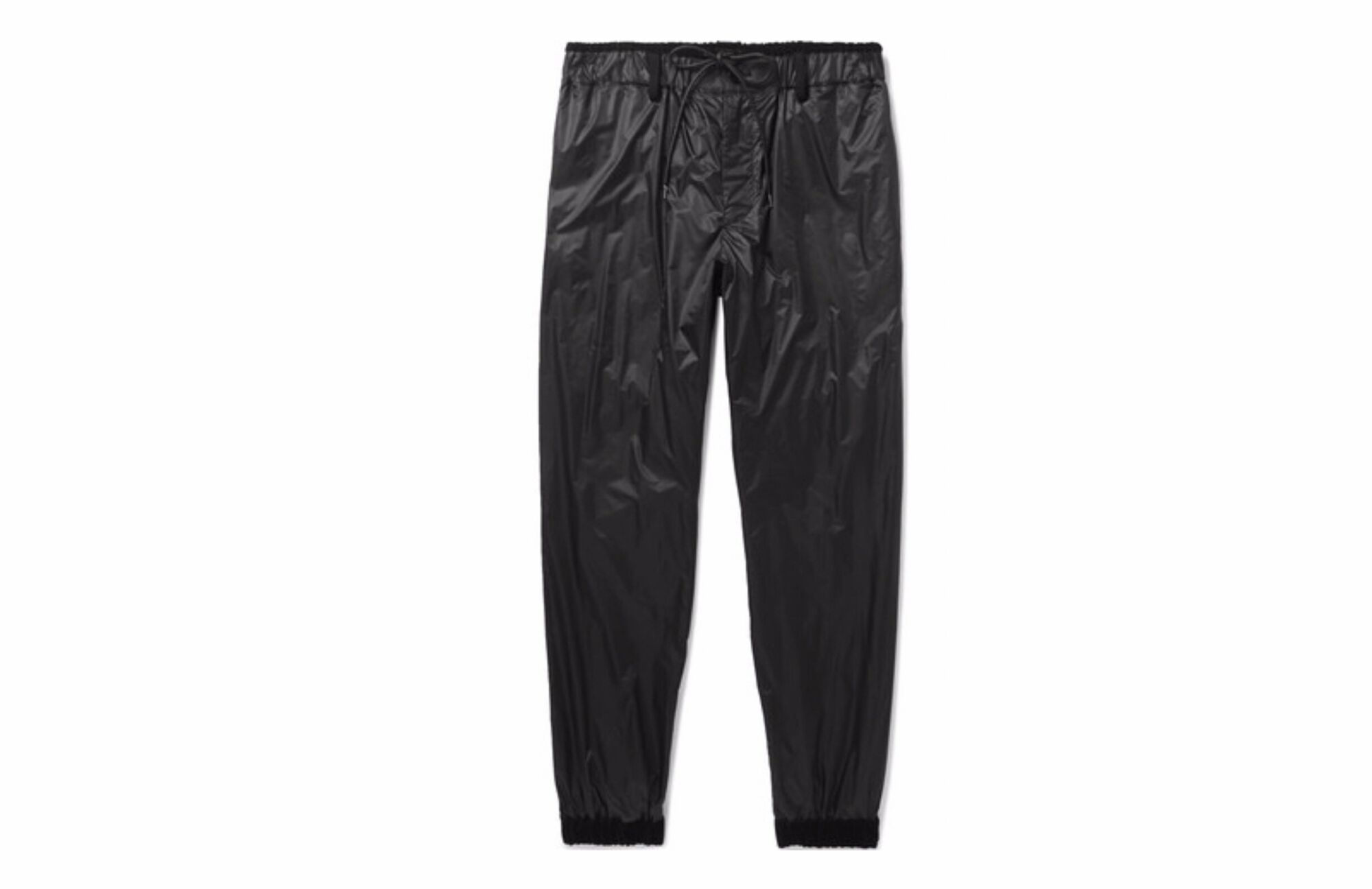 Sacai black jogger pants