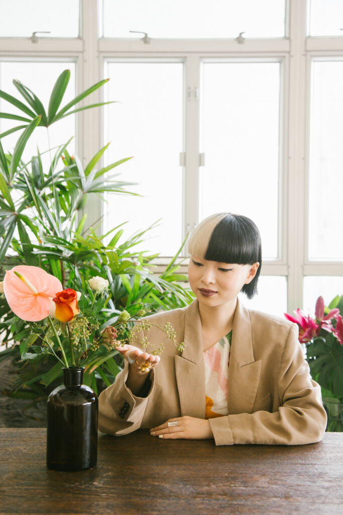 Thierry Chow portrait with plants