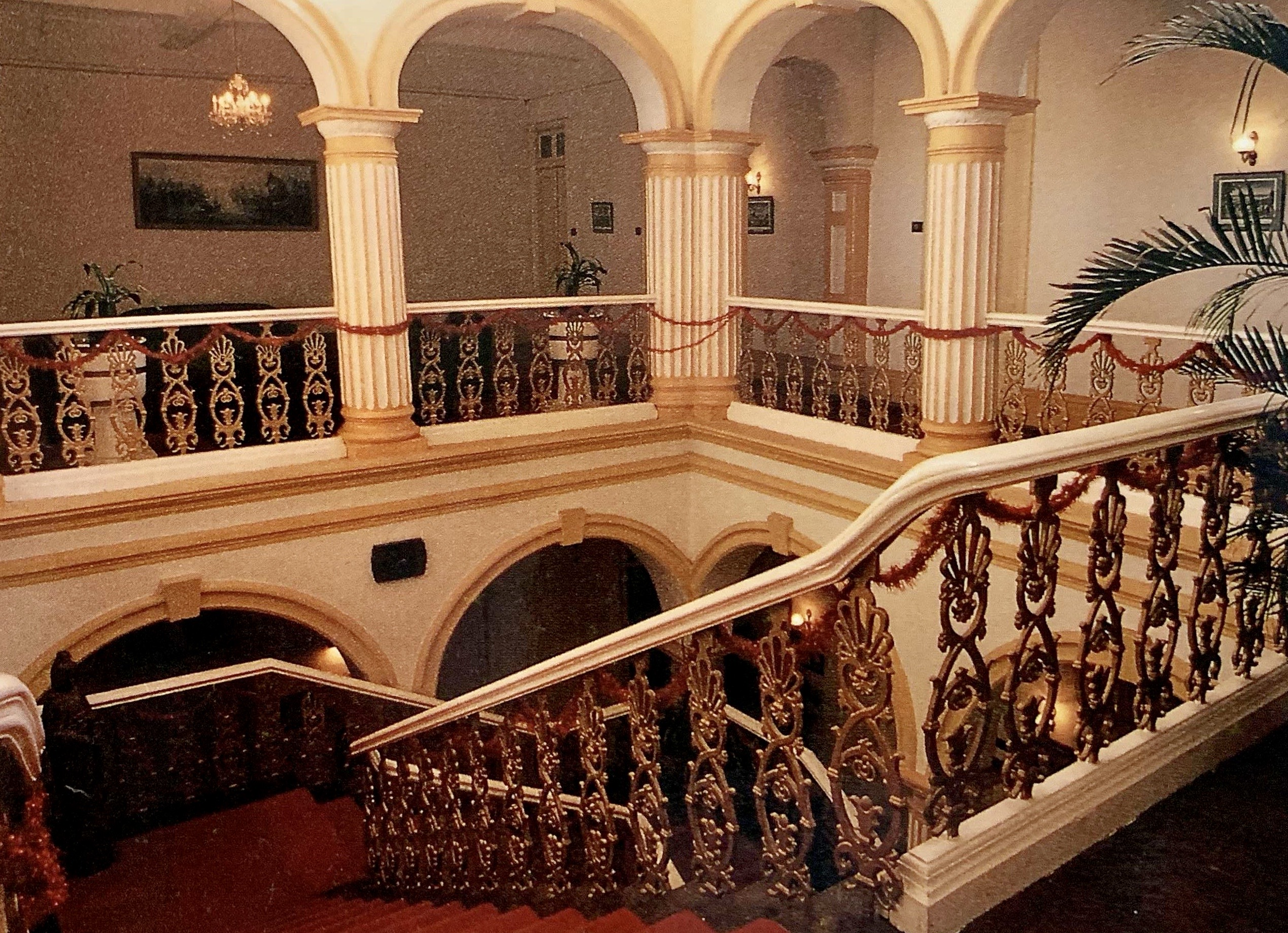 Bela Vista Hotel Interior Staircase Lobby Photo by Eduardo Tome Published by Macao Cultural Institute in 1988