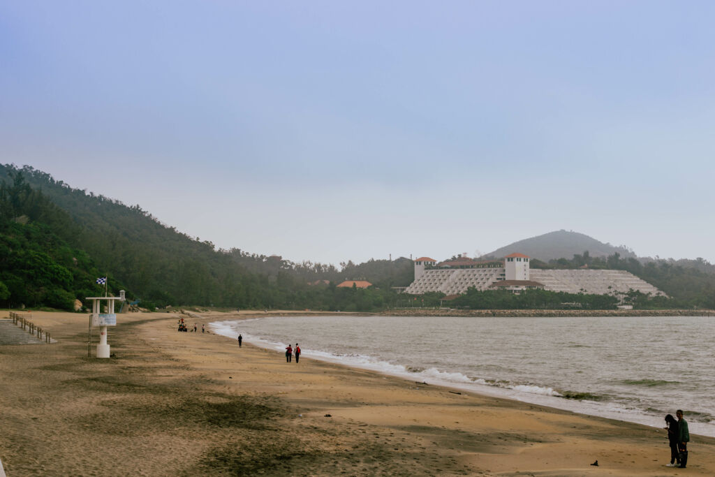 Hac Sa Beach and hills