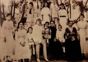 Macanese Santos Ferreira Family with Patua Writer on the right seating