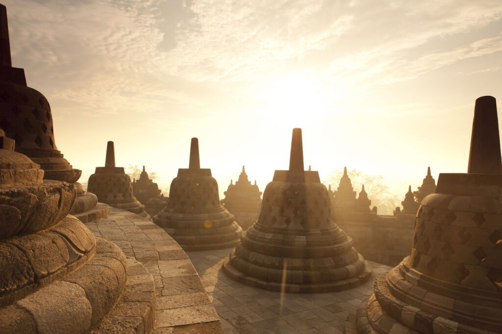 Borobudur Temple Sunrise in Java Indonesia Southeast Asia destinations