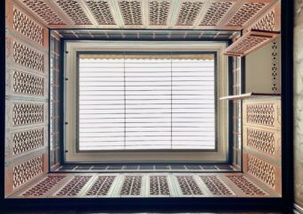 Mandarins House Upper Floors from Below with Opened Window Macau Lifestyle