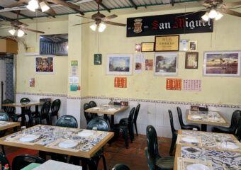 Nga Tim Cafe Coloane Village outdoor seating area