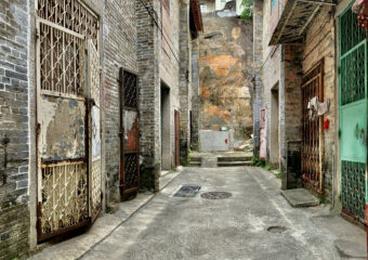 Patio das Seis Casas Wide View Horizontal Macau Lifestyle