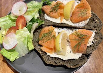 Terra coffee house smoked salmon sandwich