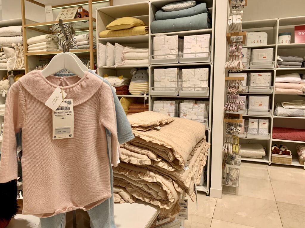 Zara Home Kids at Shoppes Cotai Central baby textiles