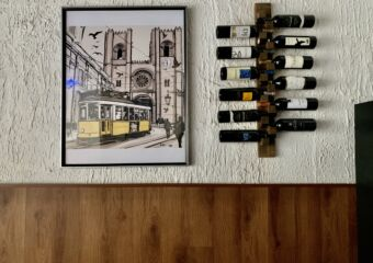 Boa Mesa Wine Bottles and Painting on the Wall Macau Lifestyle