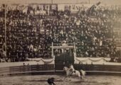 Bullfighting in Macau Postcard by Coca Cola Black and White
