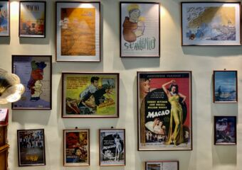 Cathedral Cafe Cinema Paintings on the Wall in the Stairs Macau Lifestyle